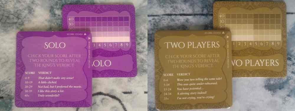 Shahrazad score cards