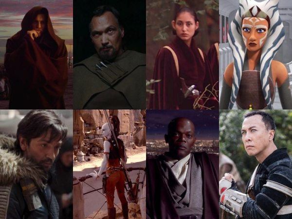 collage of Star Wars characters who deserve a Star Wars Story anthology film