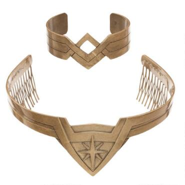 Wonder Woman movie tiara and bracelet