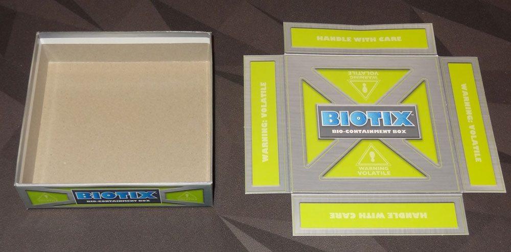 BIOTIX box insert unfolded