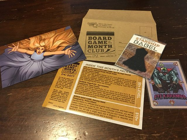 Board Game of the Month Club contents