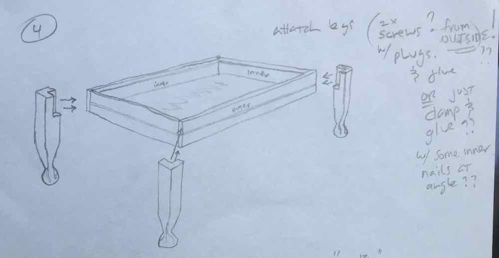 Gaming Table Leg Design
