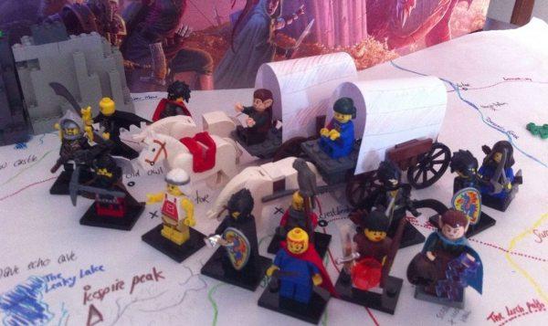 LEGO D&D dragon cult caravan