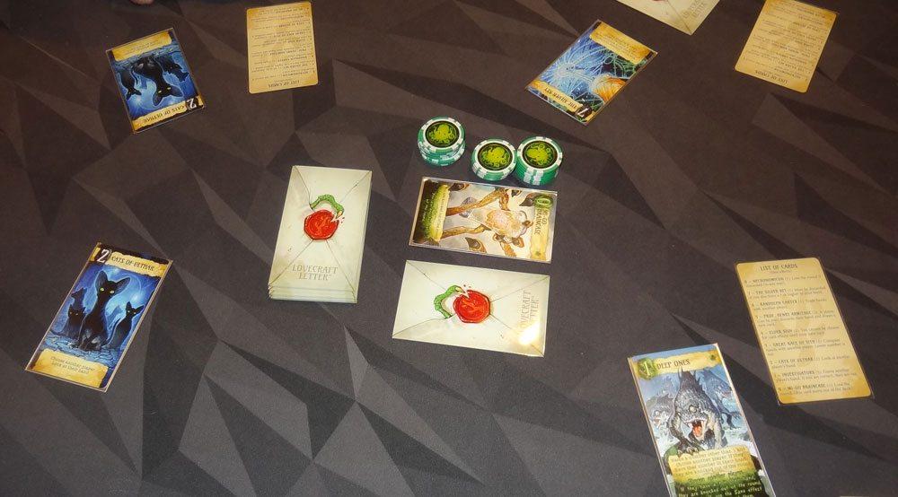 Lovecraft Letter game in progress