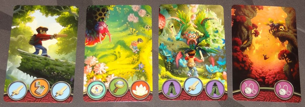 Mysterious Forest Path cards
