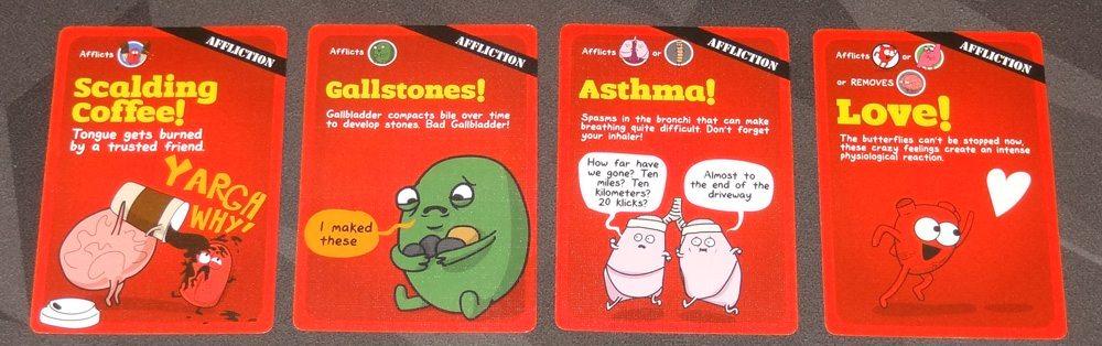 OrganATTACK affliction cards