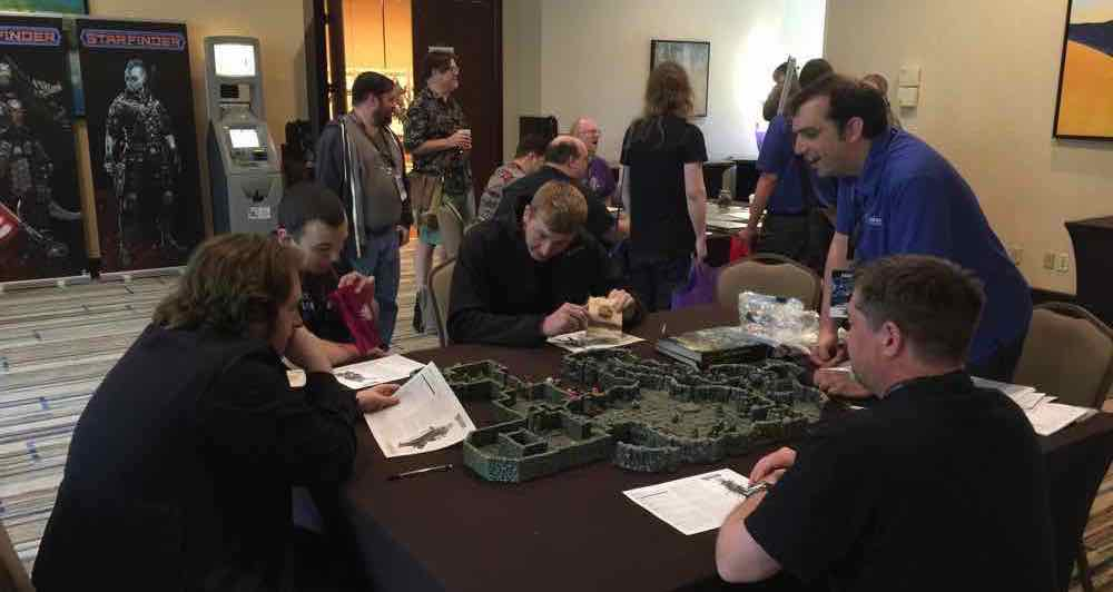 The delve being played