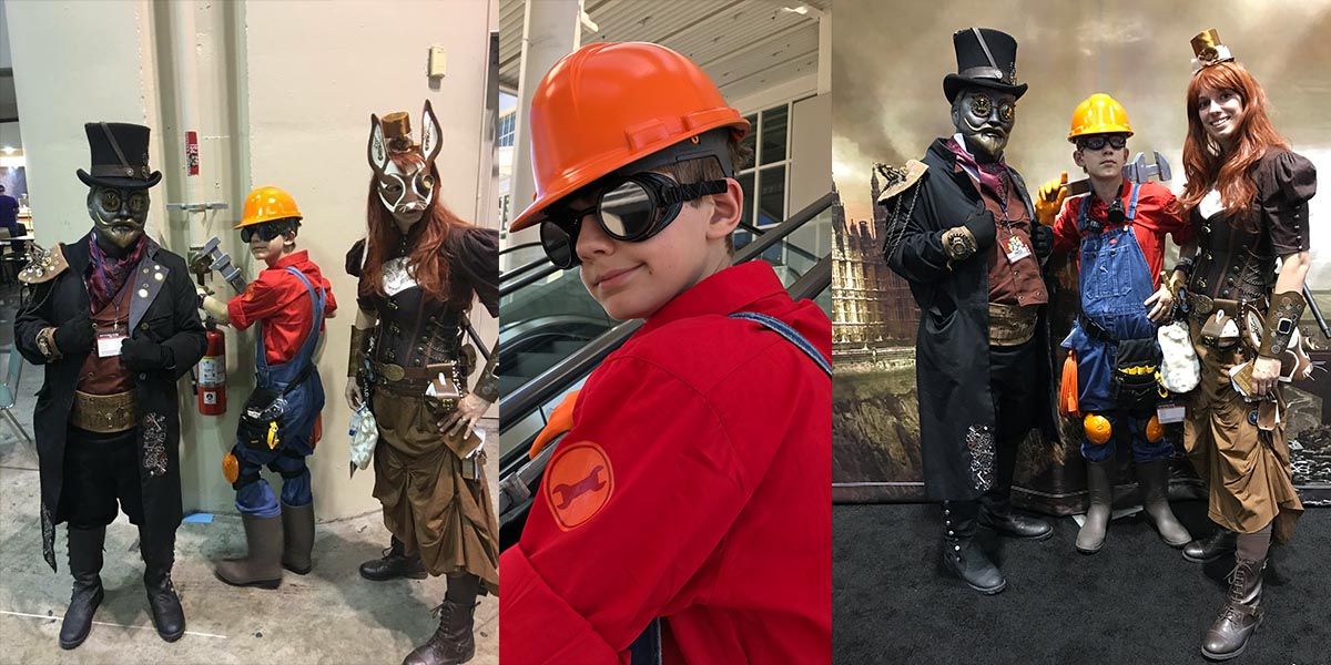 The family that cosplays together, stays together. \ Image: Dakster Sullivan