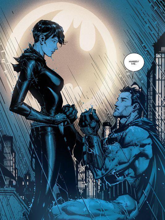 Bat/Cat proposal, Selina Kyle, Bruce Wayne