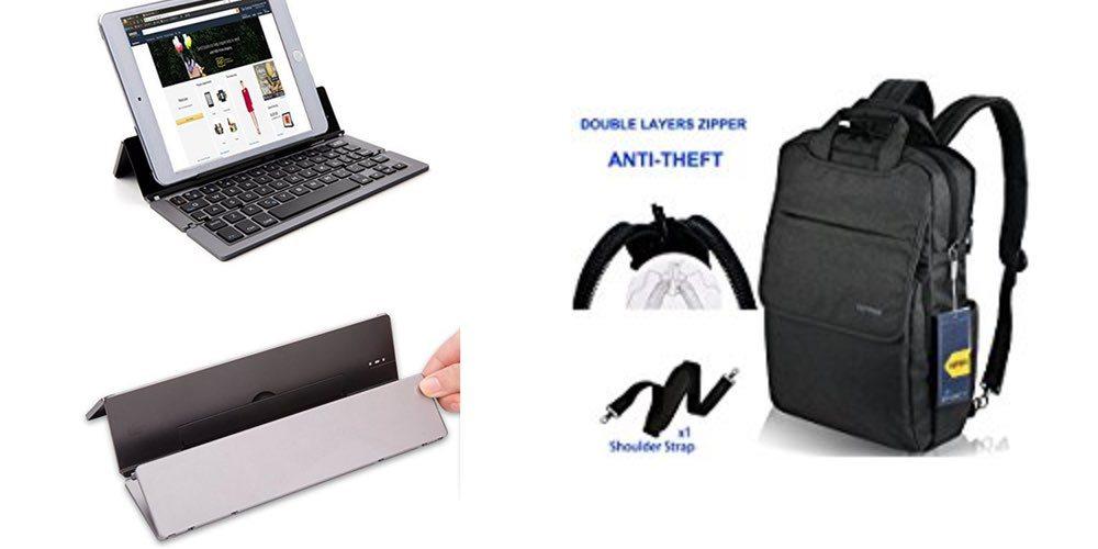 Geek Daily Deals blueooth keyboard laptop backpack
