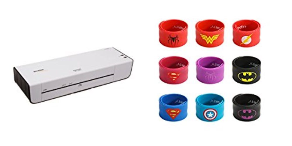 Geek Daily Deals 072317 thermal laminator super hero slap bracelets