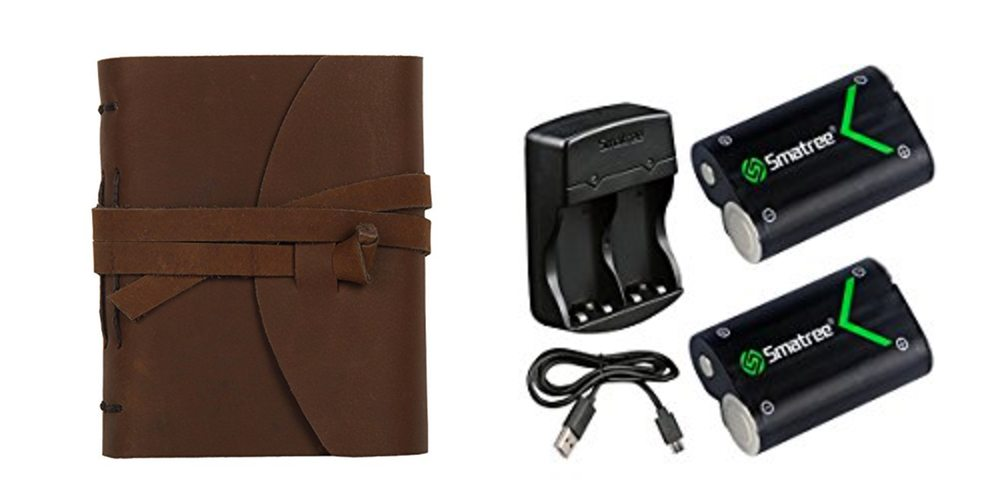 Geek Daily Deals 072717 leather bound journals rechargeable AA batteries