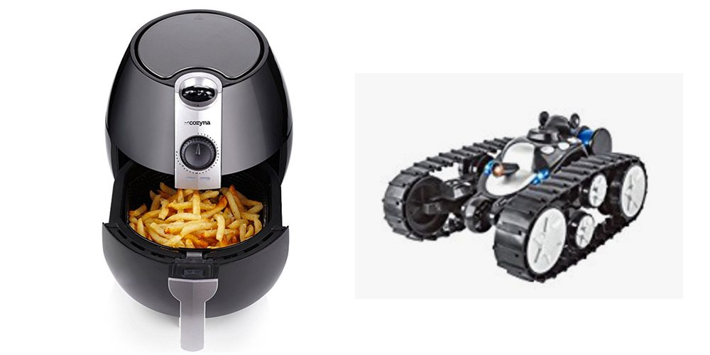 Geek Daily Deals 072917 air fryer robot tank