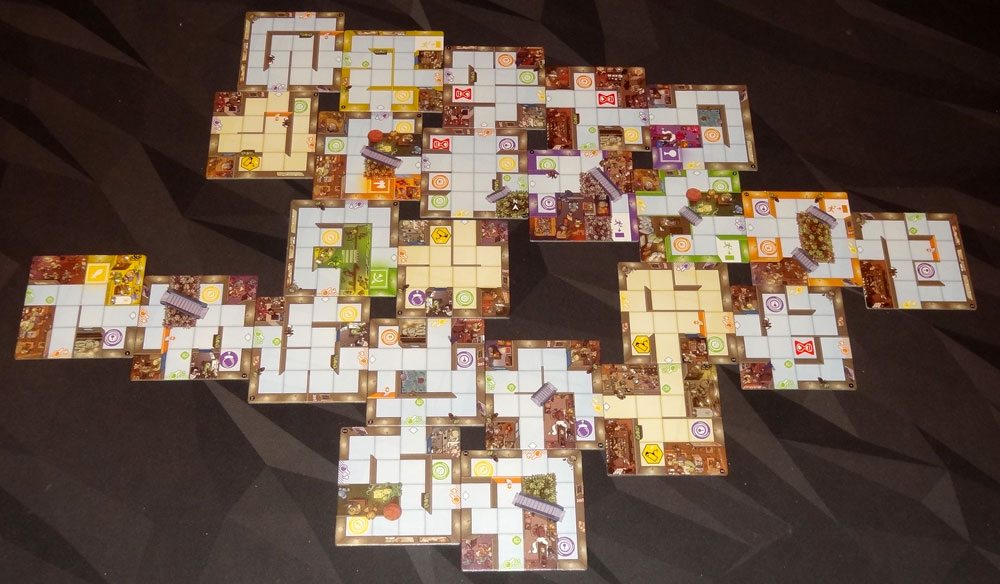 Magic Maze 24-tile map