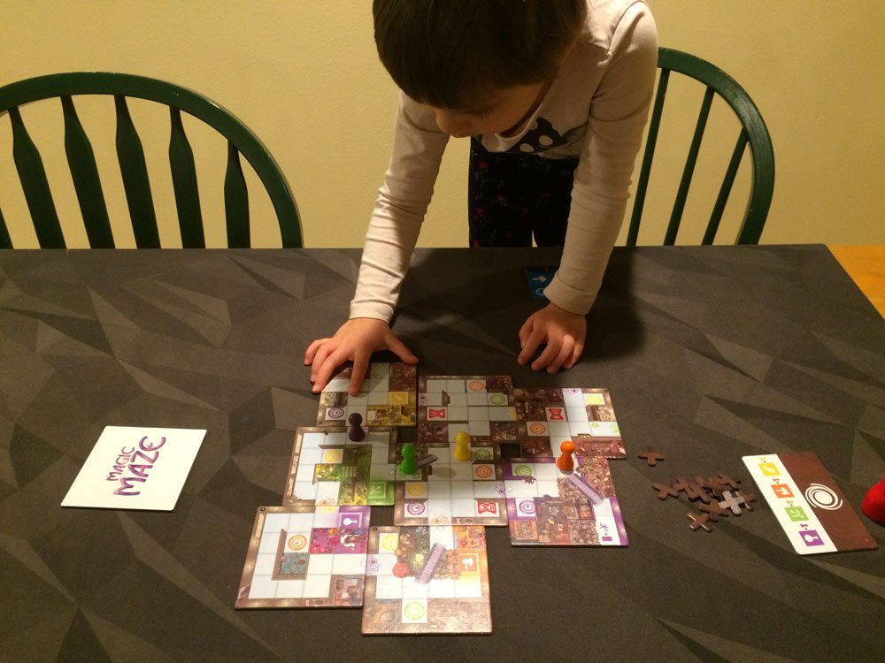 4-year-old playing Magic Maze