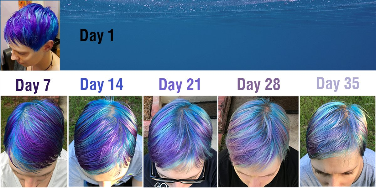 Thanks to using the right products, my mermaid hair has held strong. \Image: Dakster Sullivan