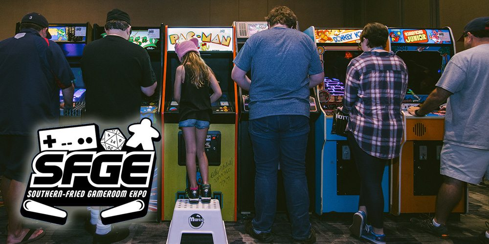 Southern-Fried Gameroom Expo 2017 Recap - People Playing classic arcade games
