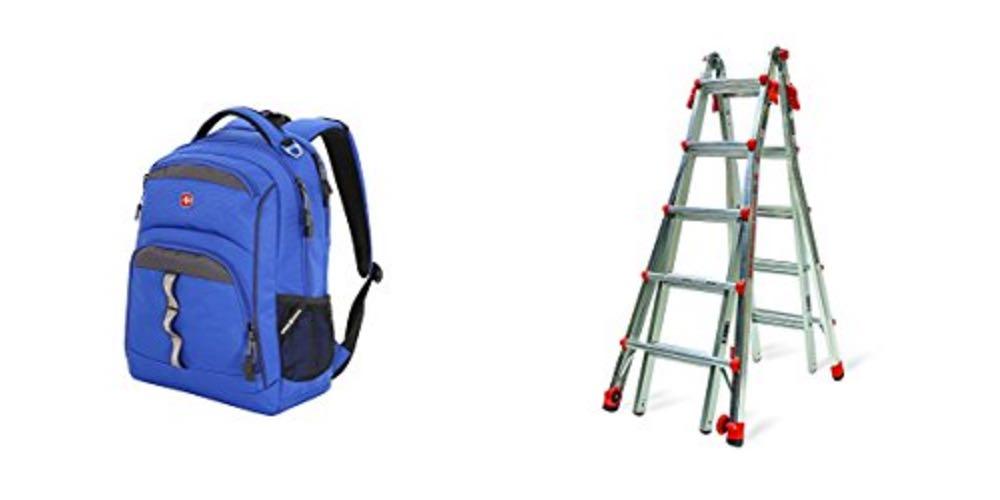 Geek Daily Deals 081017 backpacks ladders