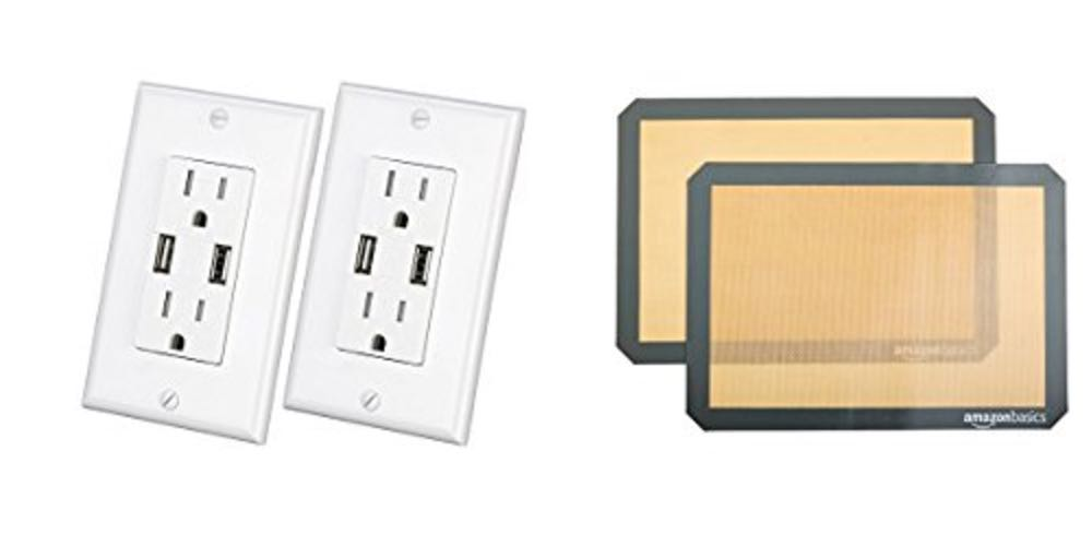 Geek Daily Deals 082817 power outlets USB charging silicone baking mats