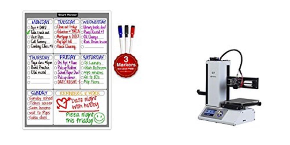 Geek Daily Deals 083117 magnetic fridge planner 3d printer