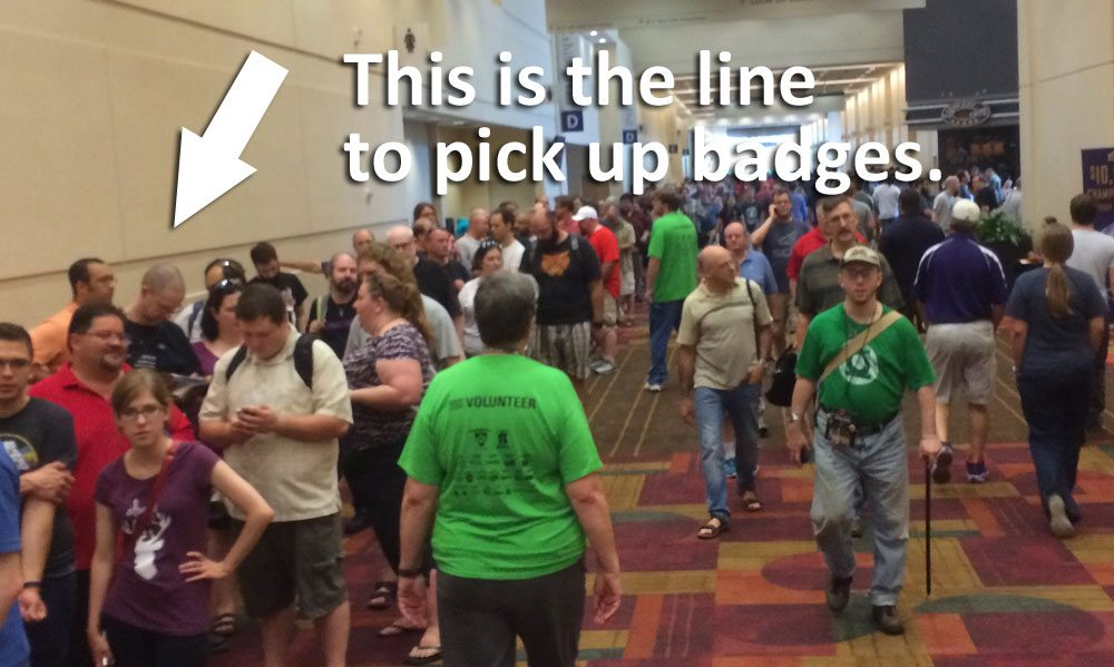 Gen Con Badge Line