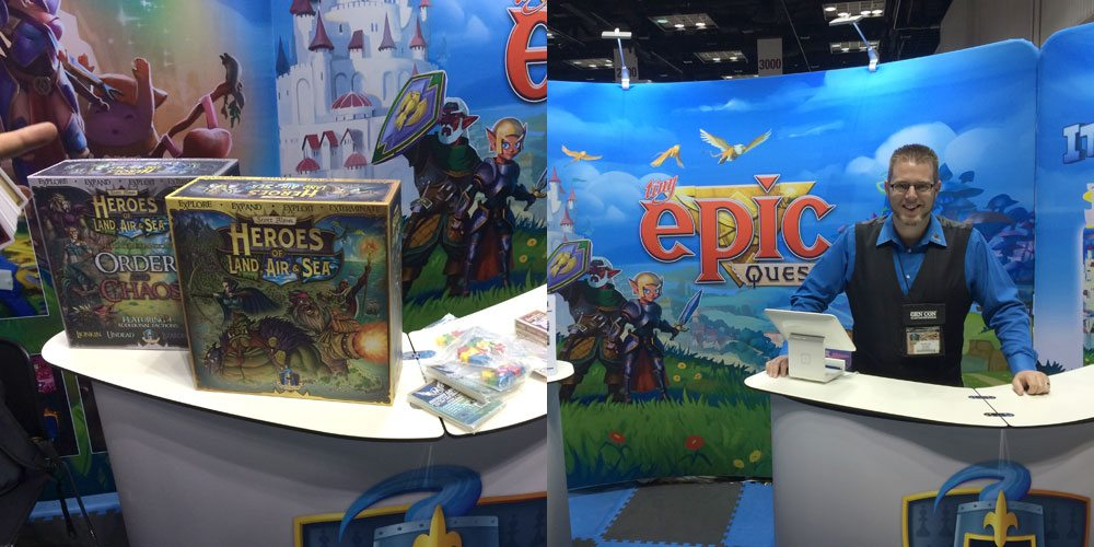 Heroes of Land, Air & Sea at Gamelyn Games booth
