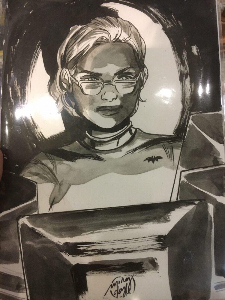 Ming Doyle, Oracle, original art from Boston Comic Con