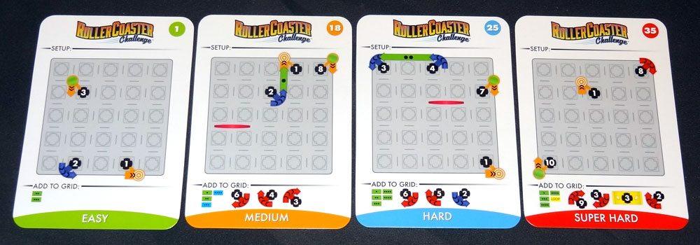 Roller Coaster Challenge cards
