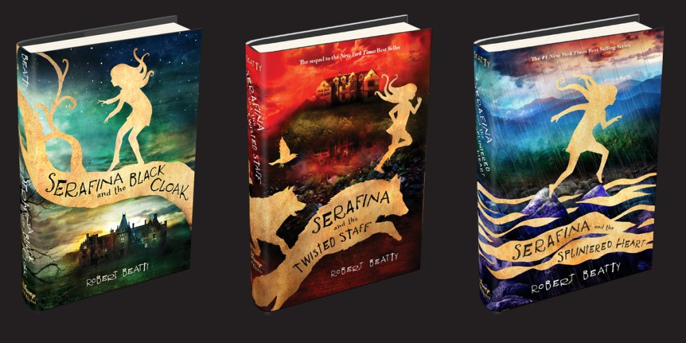 'Serafina and the Black Cloak', 'Serafina and the Twisted Staff', and 'Serafina and the Splintered Heart'