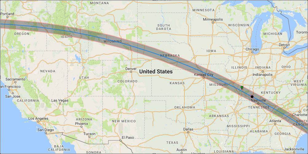 Google Solar Eclipse Map