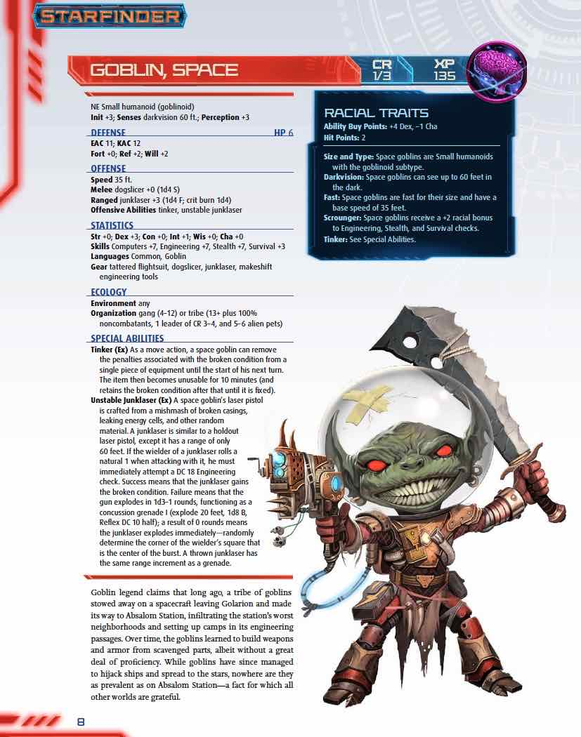 Starfinder Goblin