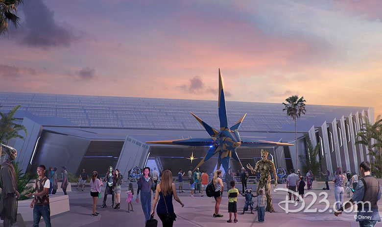 Concept Art For the Guardians of The Galaxy Attraction, Image: Disney