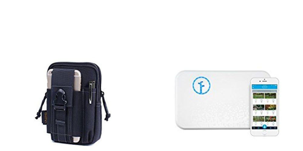 Geek Daily Deals 092017 tactical belt pouch smart sprinkler controller