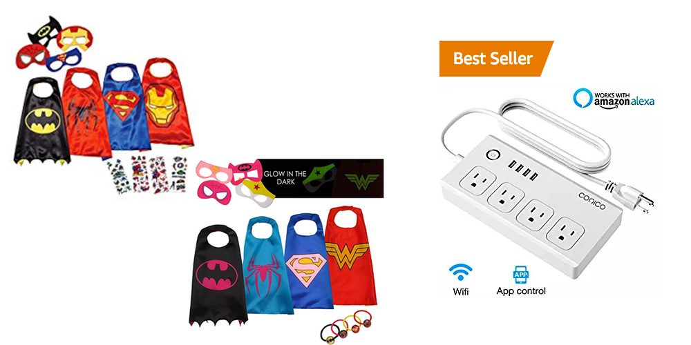 Geek Daily Deals 092317 superhero capes smart power strip
