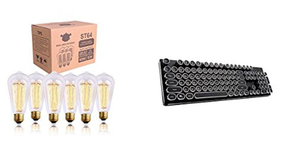 Geek Daily Deals 092617 filament bulbs mechanical keyboards
