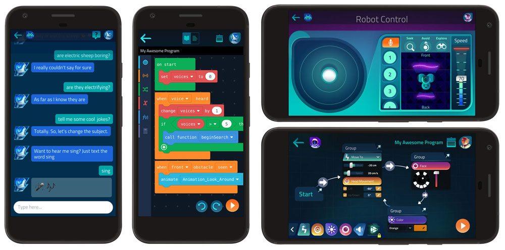 Cue app screenshots