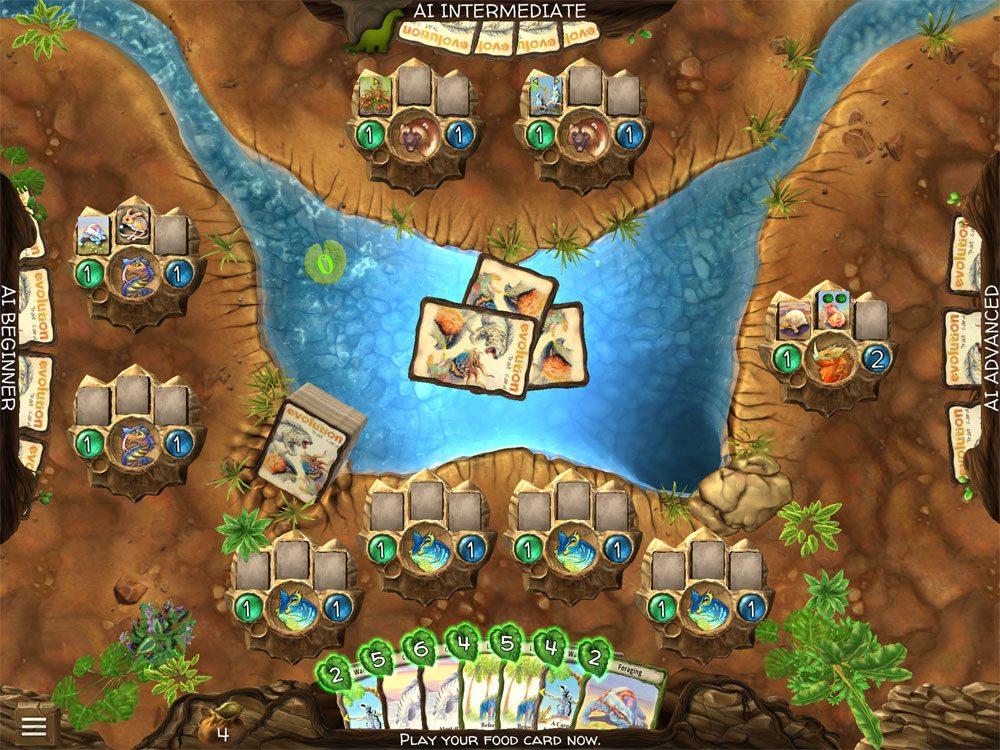 Evolution video game - pick food cards