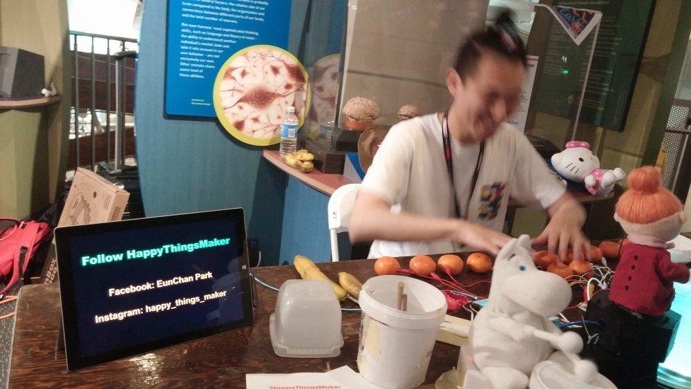 Wonderful weekend at NY Maker Faire: EunChan Park creates happy things to play with. Photo: Andrew Terranova