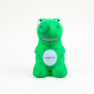 STEMosaur customizable toy also teaches coding. and STEM elements.
