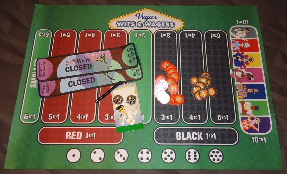 Vegas Wits & Wagers components