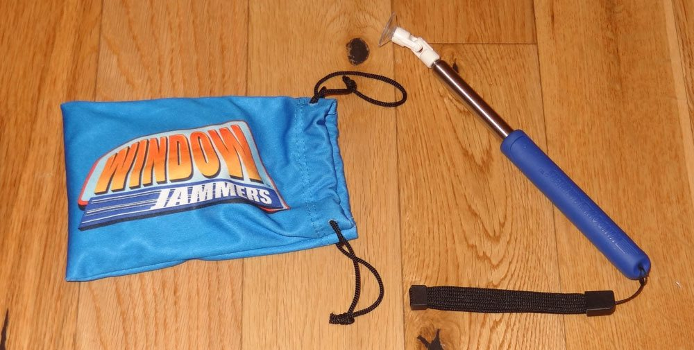 Window Jammers bag and stick