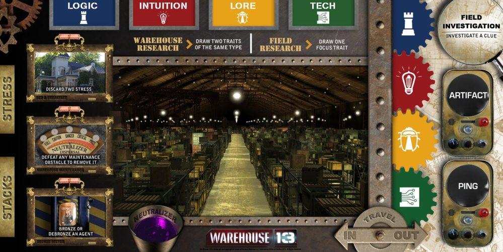 The Warehouse 13: The Board Game Main Board, Image Infinite Dreams Gaming