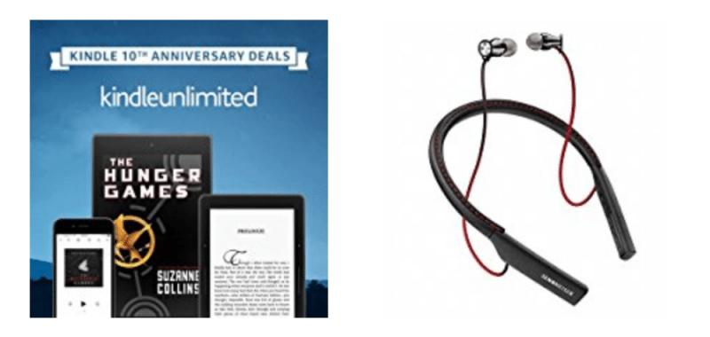Geek Daily Deals 102317 unlimited books sennheiser earbuds