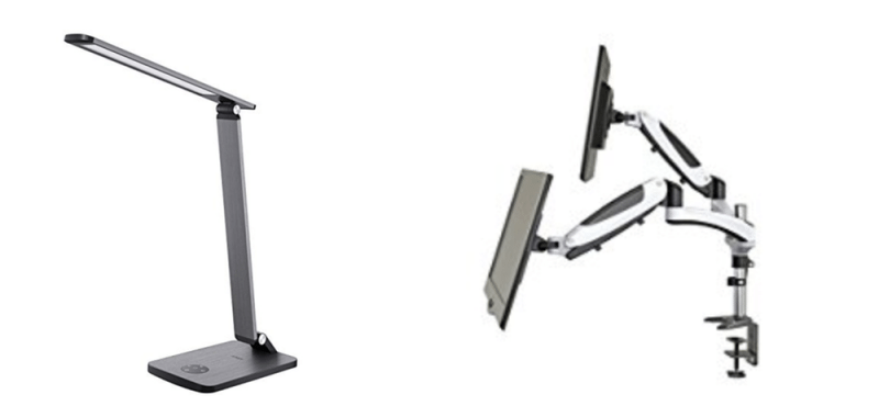 Geek Daily Deals 102417 led desk lamp dual monitor mount