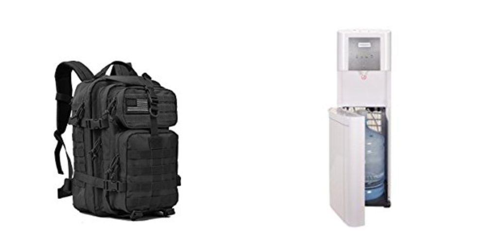 Geek Daily Deals 102617 tactical backpack water cooler