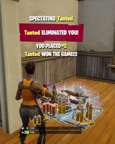 Near win in Fortnite Battle Royale