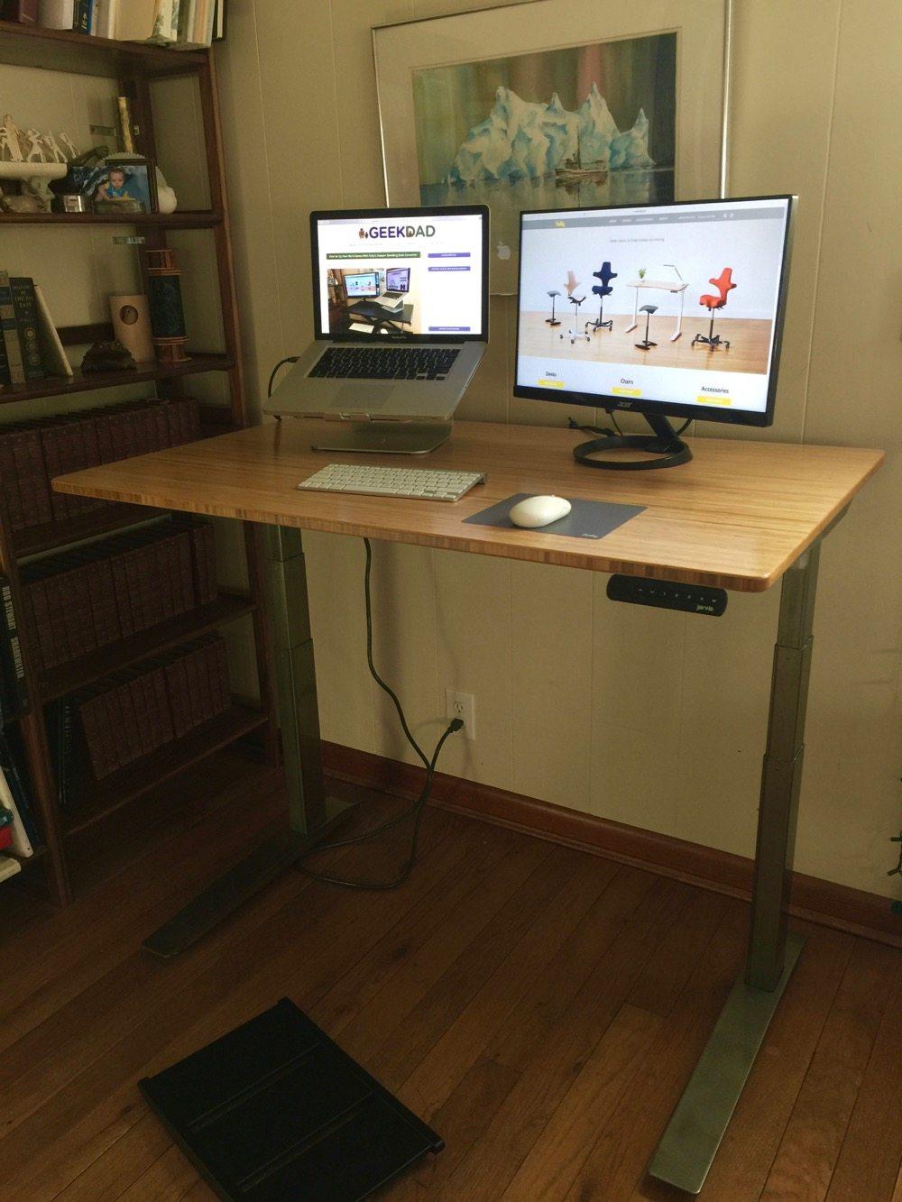 Picture of: Jarvis Bamboo Adjustable Standing Desk Best Desk I Ve Ever Used Geekdad