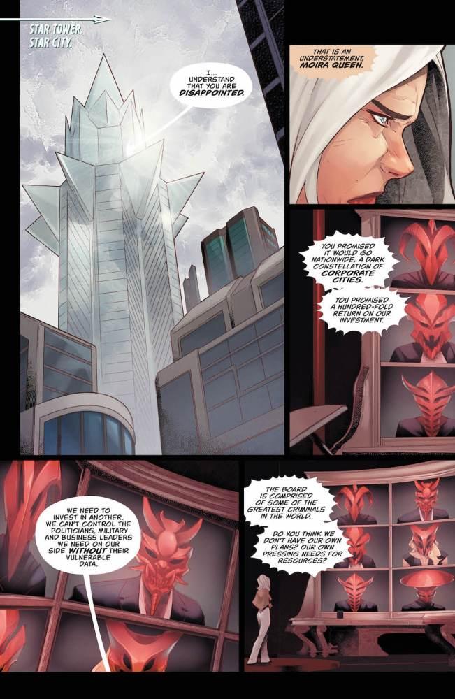 Moira Queen, Green Arrow #33, 2017