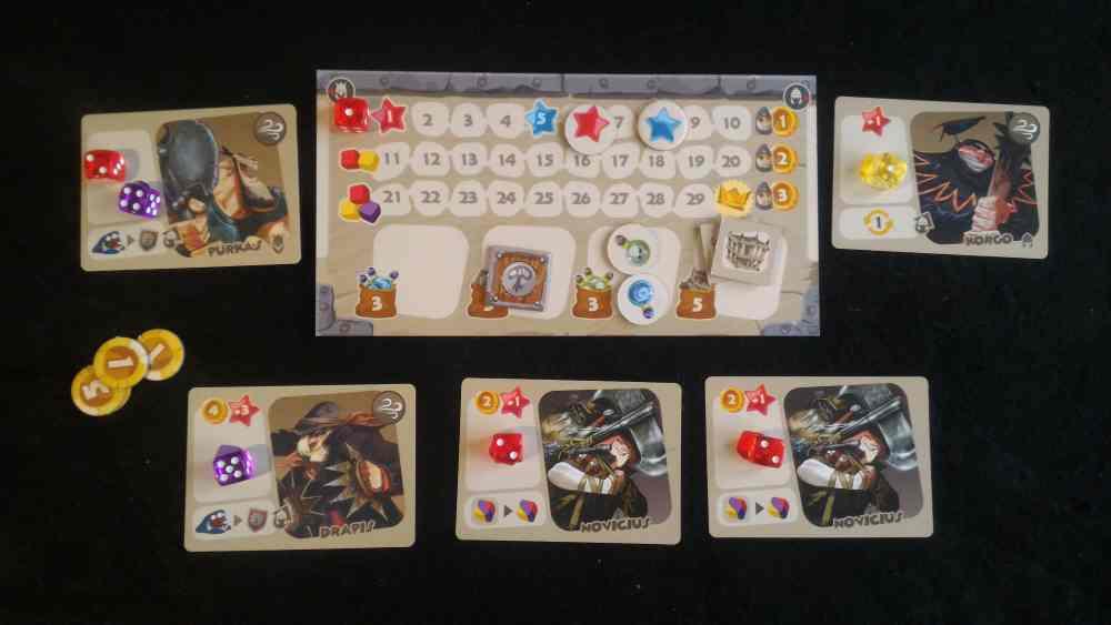 Sample Player Board