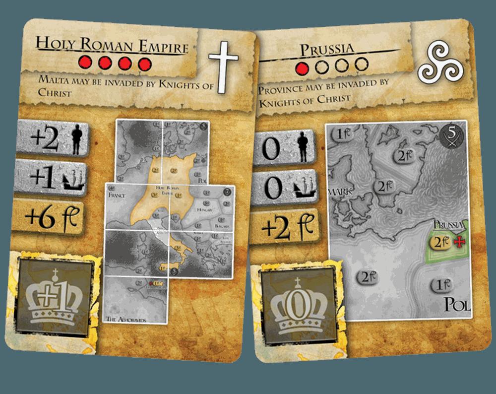 Medieval Boardgame Kickstarter: Power Cards